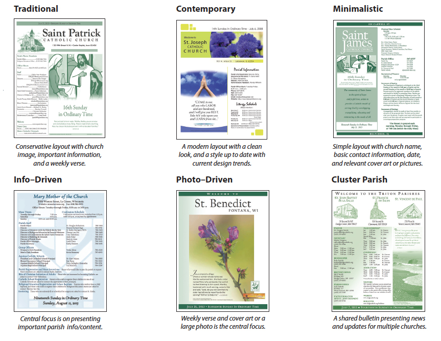 church bulletin templates for pages
