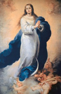 Mary Immaculate, Patroness of the USA. Image of the Immaculate Conception by Murillo, 1660.