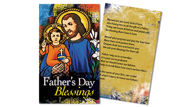 Father's Day Prayer Card