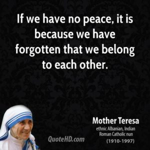 Mother Teresa quote and image taken from QuoteHD.com.