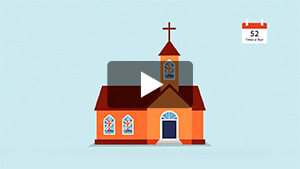 Click here to watch a video to learn how advertising with your local church is the best value in town.