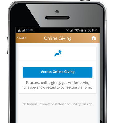 WeConnect Parish App - Church Online Giving Access