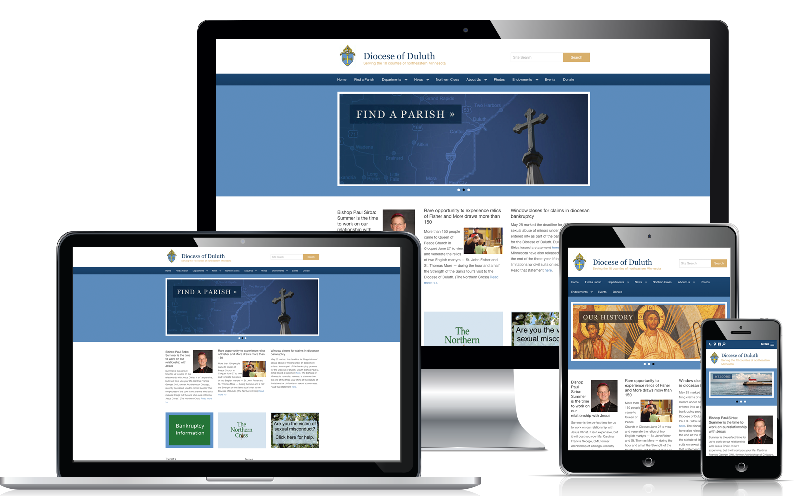WeConnect Church Website - Diocese of Duluth