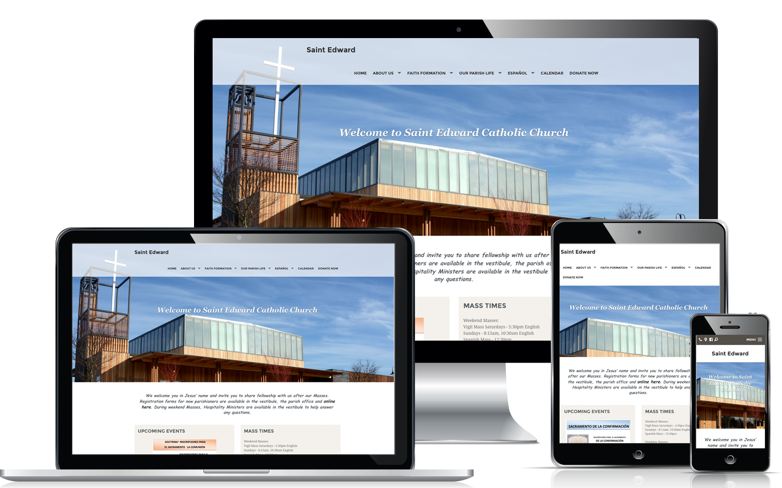 Weconnect Church Website St Edward Church Website Design Ideas