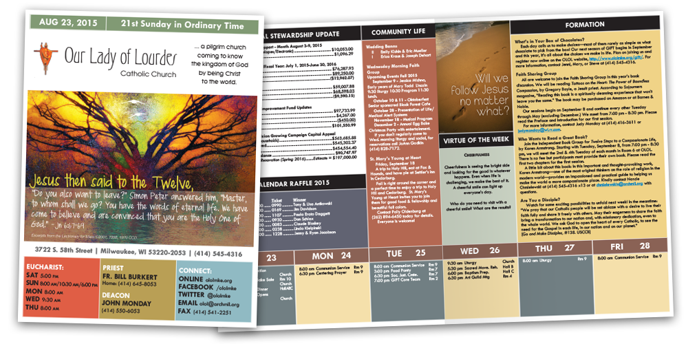 Bulletins and newsletters liturgical publications vibrant church bulletins look closer pronofoot35fo Image collections