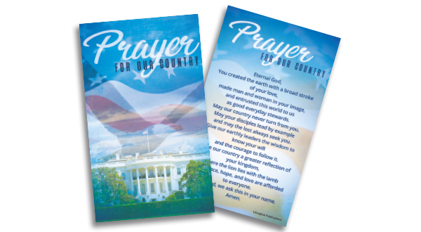 Patriotic Prayer Card