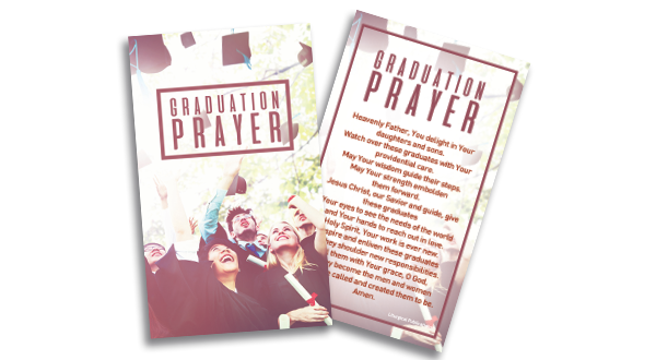 Graduation Prayer Card