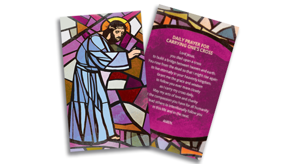 Prayer Card: Carrying One's Cross
