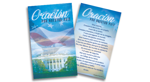 Patriotic Prayer Card (Spanish)