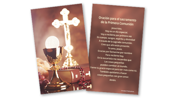 First Communion Prayer Card (Spanish)