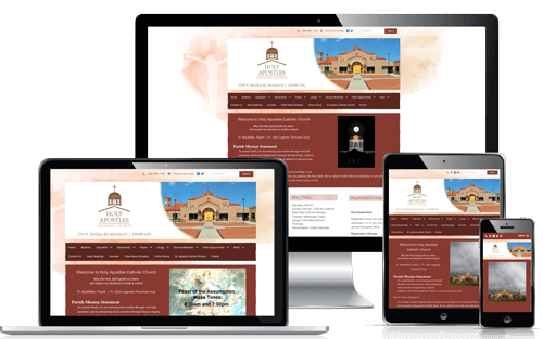 WeConnect Church Websites: Holy Apostles