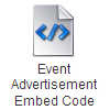 Event Advertisement Embed Code