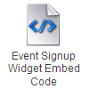Event Signup Widget Embed Code