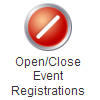 Open and Close Event Registrations