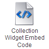 Collection Widget Embed Code