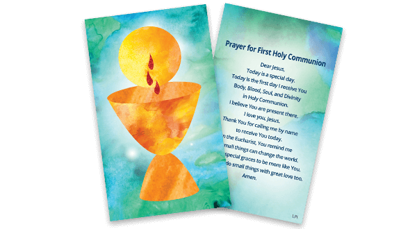First Communion Prayer Card (English)