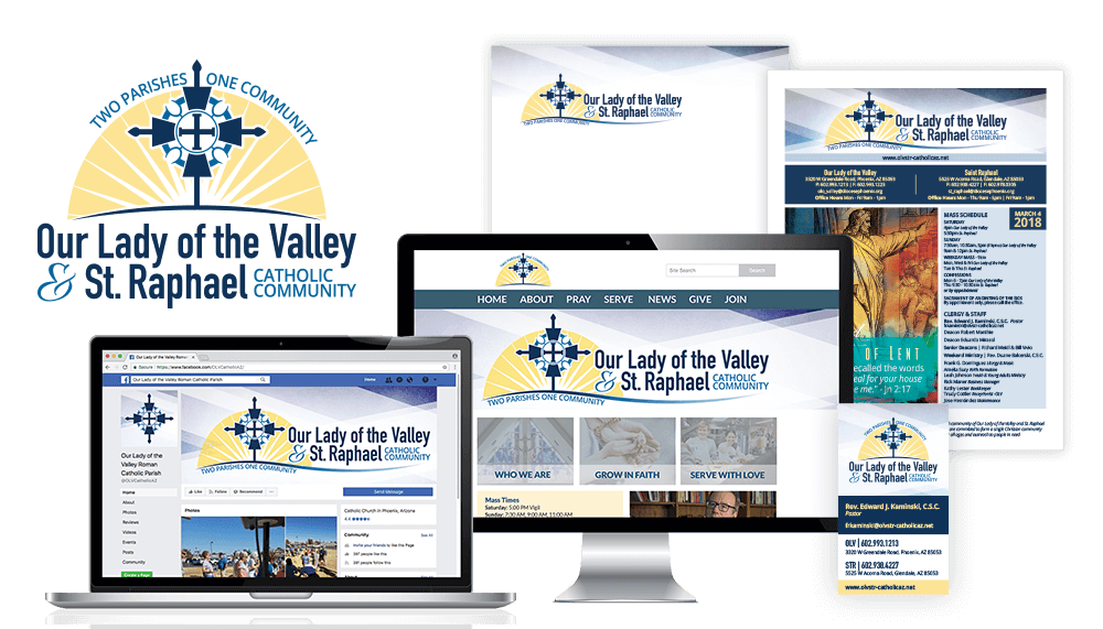 Our Lady of the Valley & St. Raphael Catholic Community Branding