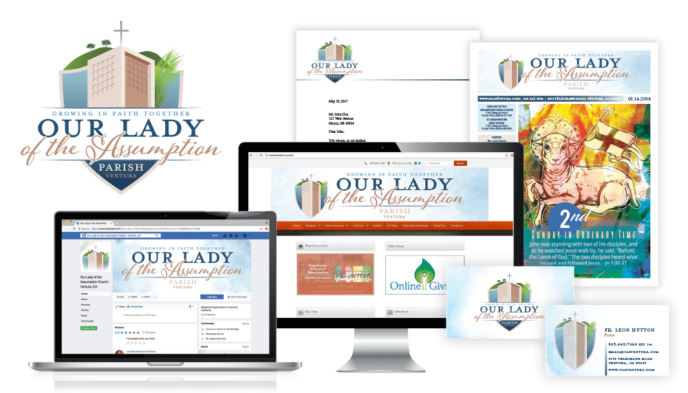 Our Lady of the Assumption Parish Branding