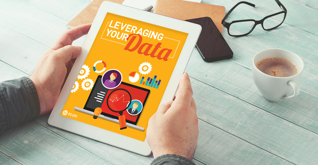 'Leveraging Your Data for Mission Engagement' read on tablet