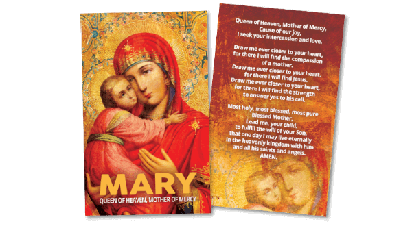 Marian Prayer Card