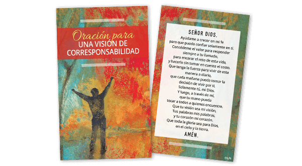 Stewardship Vision Prayer Card (Spanish)