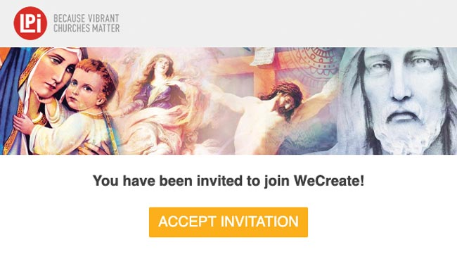 WeCreate email invitation example