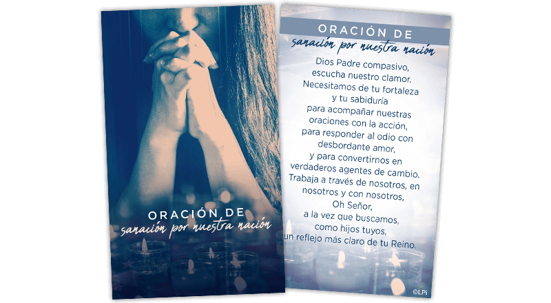 Healing Our Nation Prayer Card (Spanish)