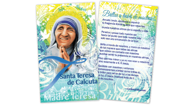 St. Teresa of Calcutta Prayer Card (Spanish)