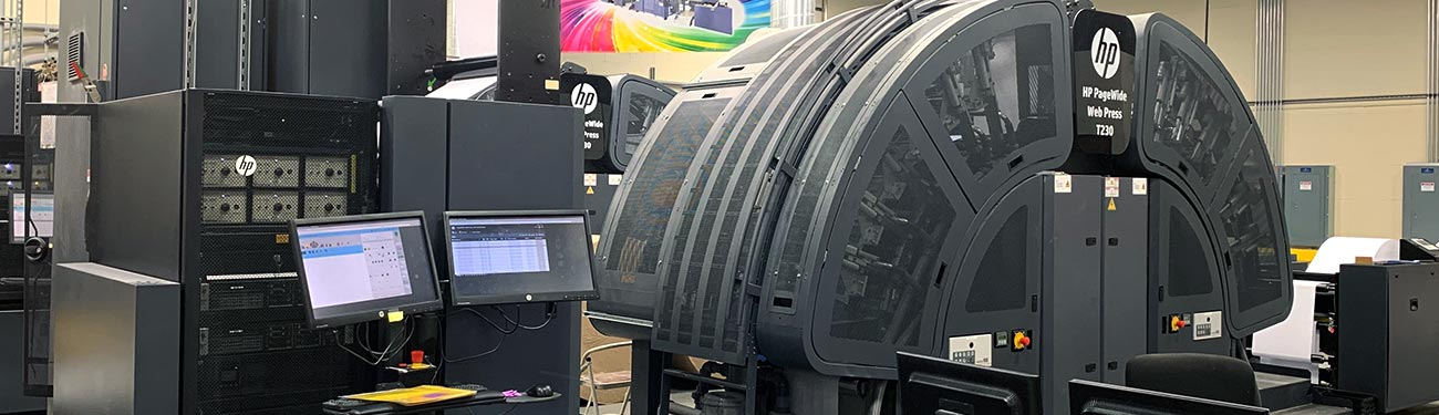 HP printing press in action