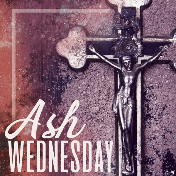 Ash Wednesday with Jesus on the Cross visual