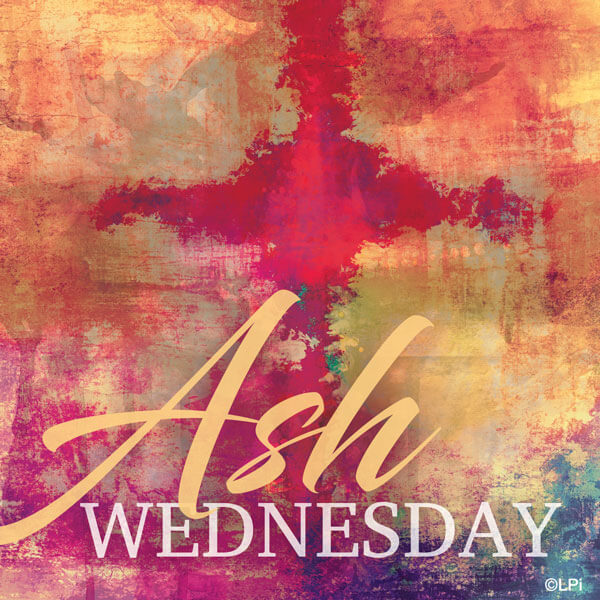 Ash Wednesday with watercolor background