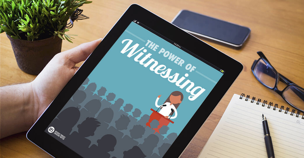 Resource 'The Power of Witnessing' read on tablet