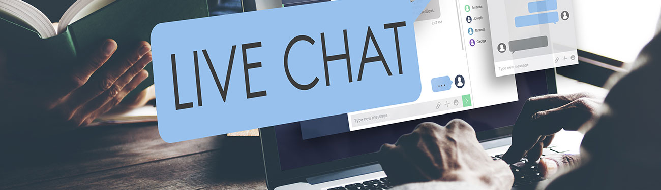 Chat box on computer screen