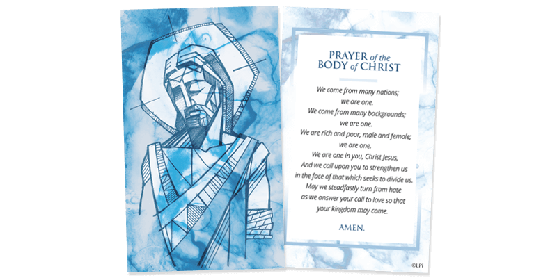 Body of Christ Prayer Card