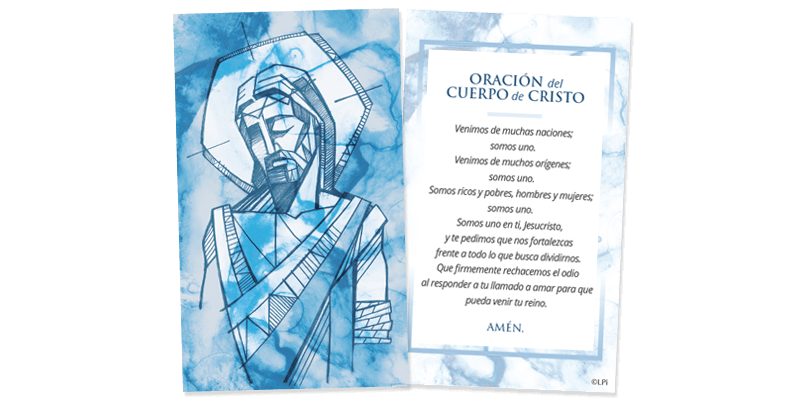 Body of Christ Prayer Card (Spanish)