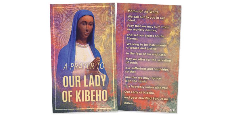 Our Lady Kibeho Prayer Card