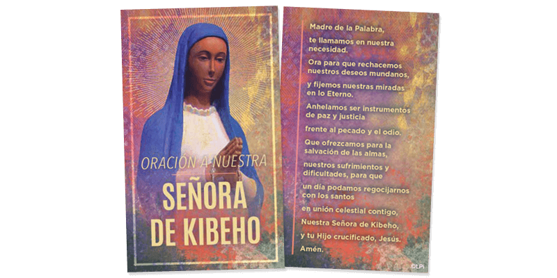 Our Lady Kibeho Prayer Card (Spanish)
