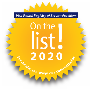 2020 Visa Global Registry of Service Providers Badge